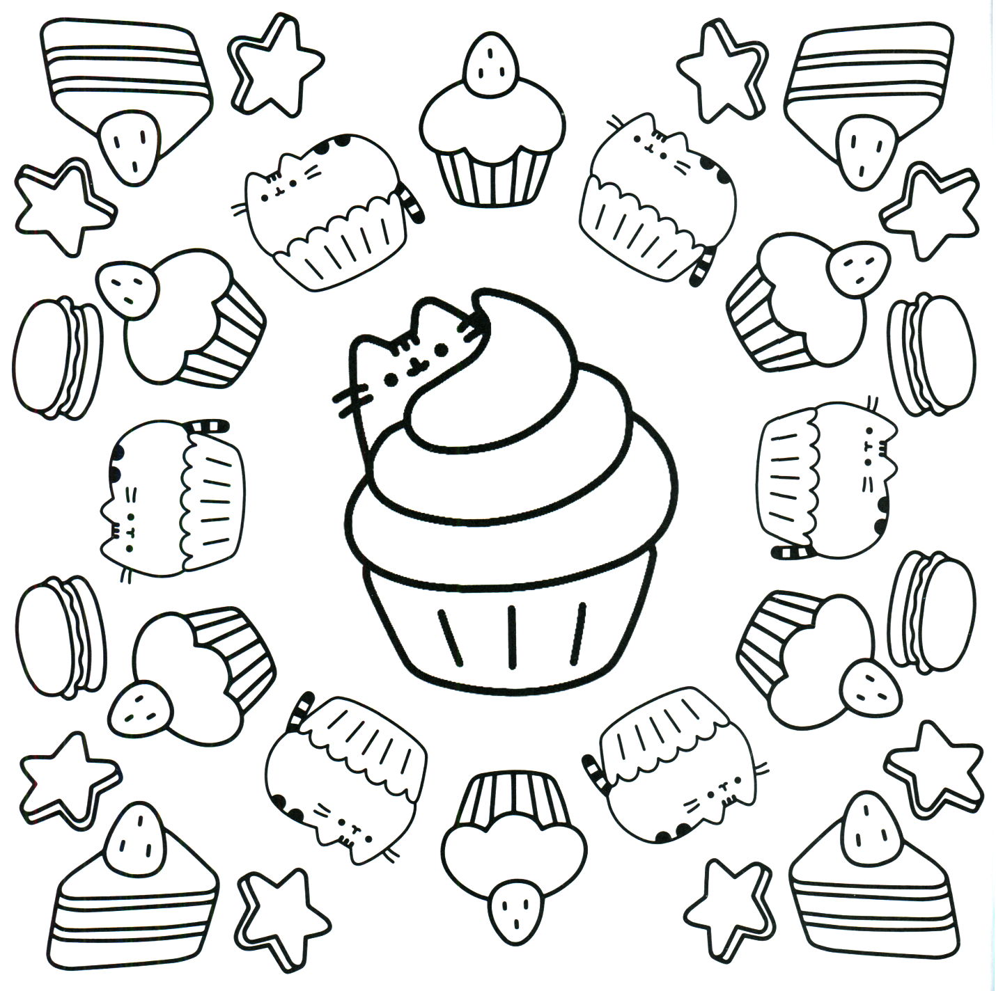 Pusheen Coloring Pages To Print Pictures To Pin On