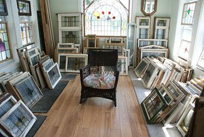 The Elegant Attic in Buxton, NC.  I have 2 of these stained glass windows in my house.  LOVE THEM!