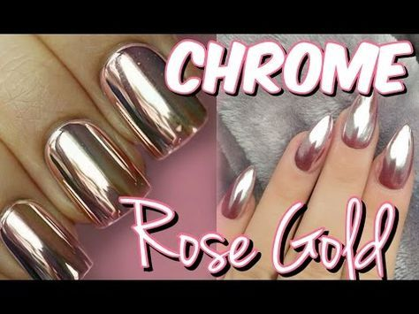 UÑAS EFECTO ESPEJO Rose GOLD CHROME Mirror Powder Mirianny - uas efecto espejo