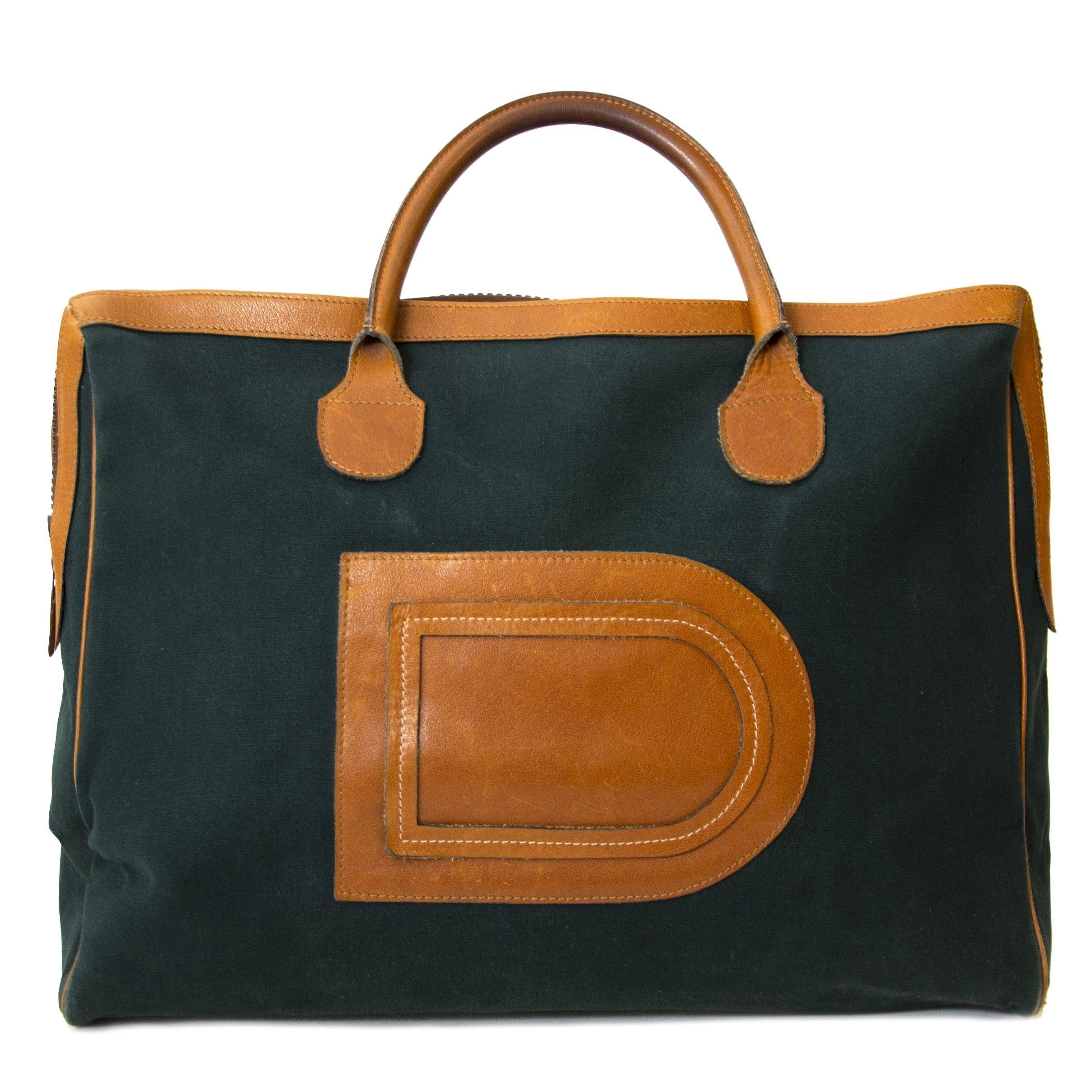 6b30d2b44f7d Delvaux Taxi Top Handle Bag Green   Shop Labellov in 2019   Bags ...