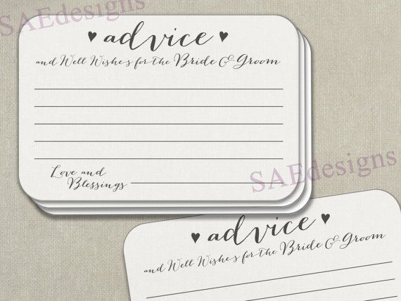 50 Wedding Advice For The Bride And Groom Printed Cards Well Wishes Words Of Wisdom Marriage Reception Newlyweds Comment