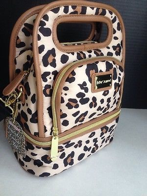 Insulated Spotty Leopard Lunch Tote Bag