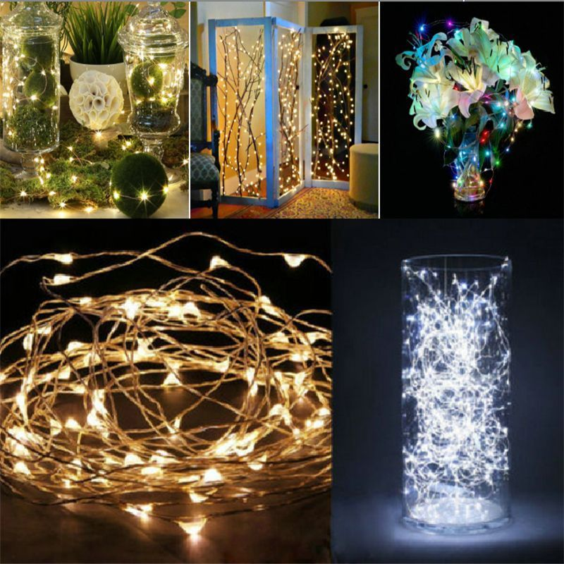 100 LEDs String Copper Wire Fairy Lights Battery Powered Waterproof
