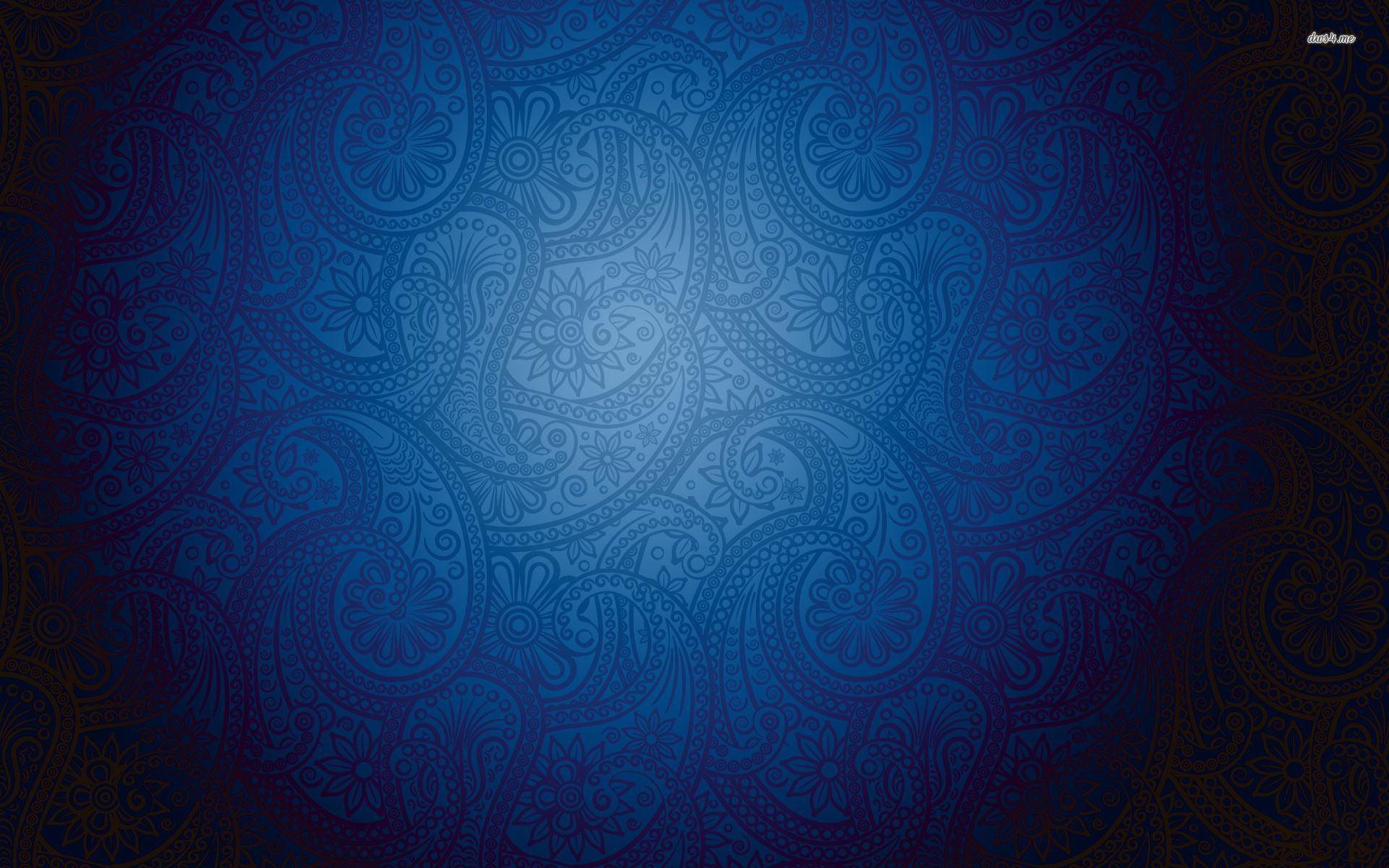 Blue floral wall pattern wallpaper abstract wallpapers for Dark blue wallpaper for walls