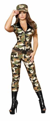 3699ee99c0c Camo Cutie Costume, Women's Halloween Army Costume, Military Women's ...