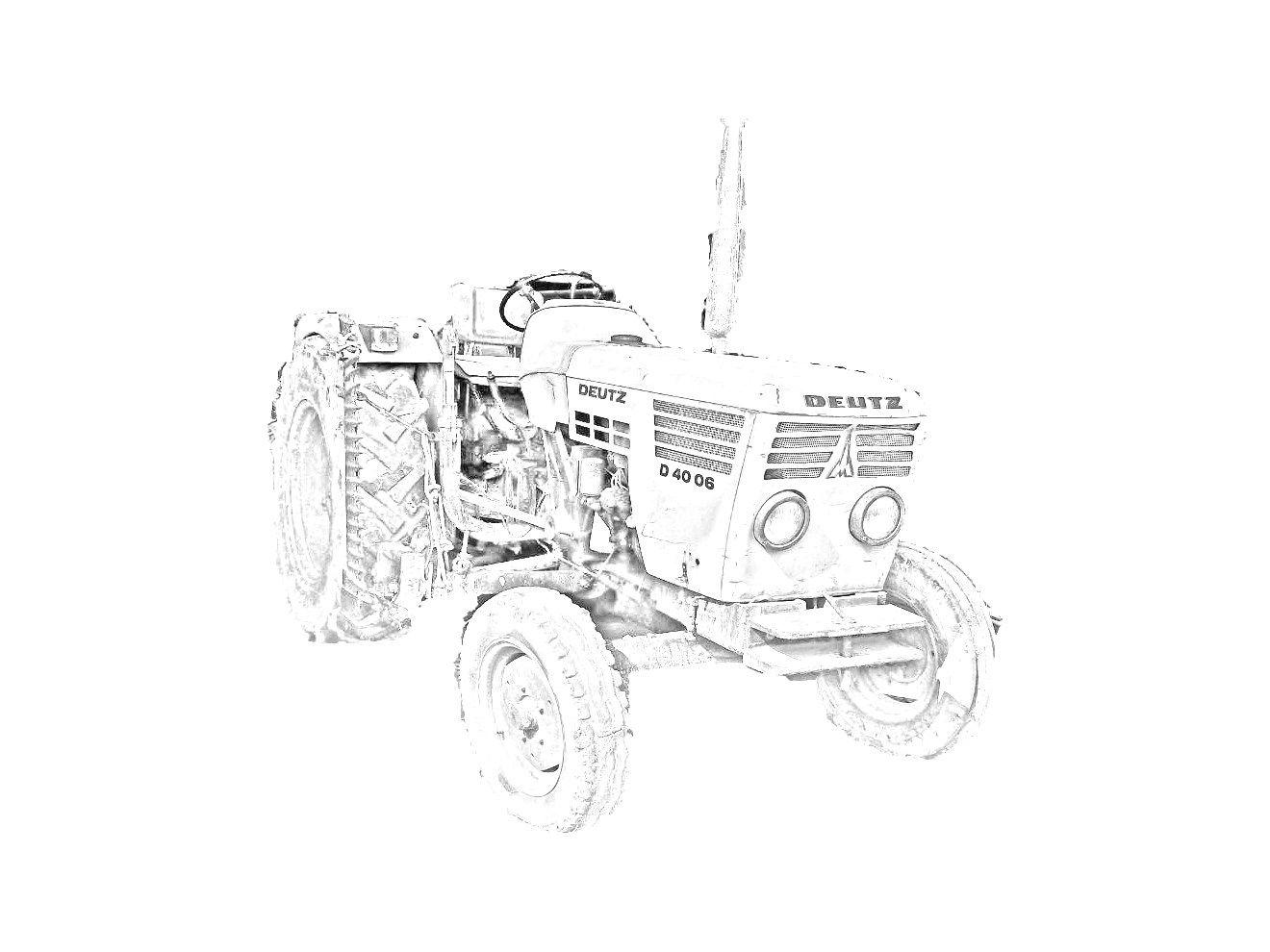 Ausmalbilder Traktor Mit Pflug : Altro Disegno Del Trattore Deutz Fahr D 40 06 Da Stampare E Colorare