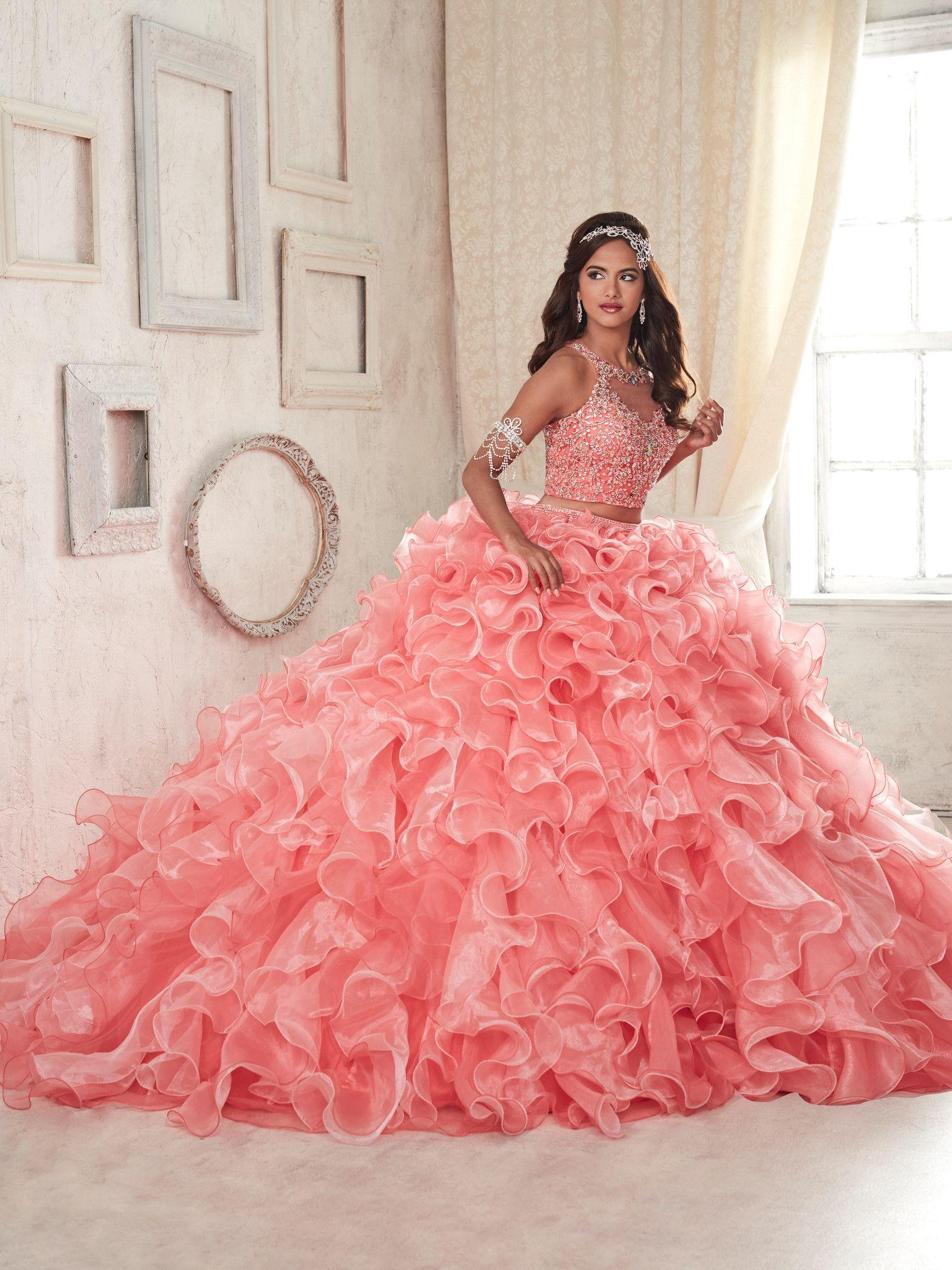 Vestidos para quinceañera color coral | Pinterest | Vestidos color ...