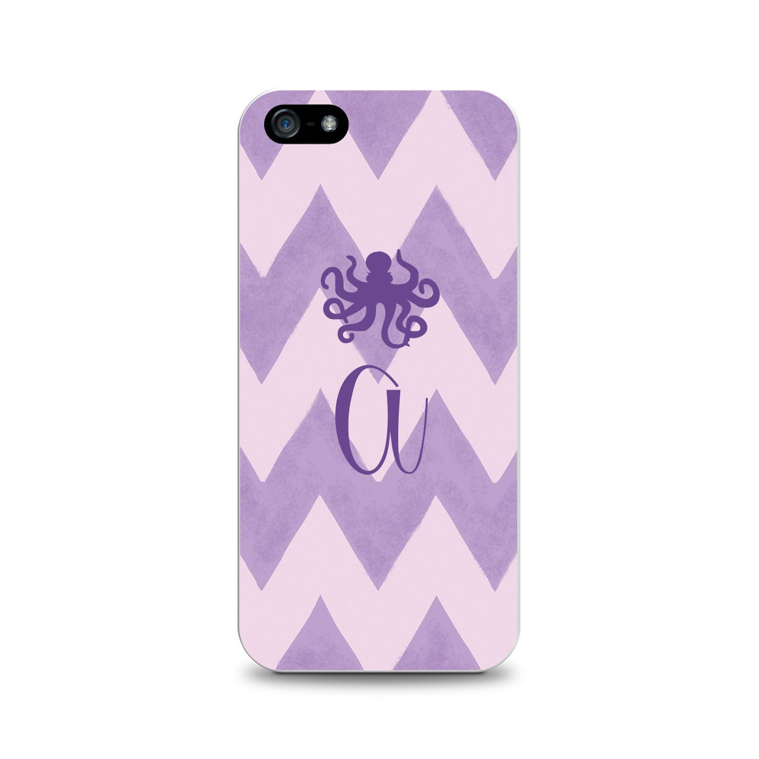 OTM Critter Collection iPhone 5 Case, ZIG/ZAG, Purple Octopus- A