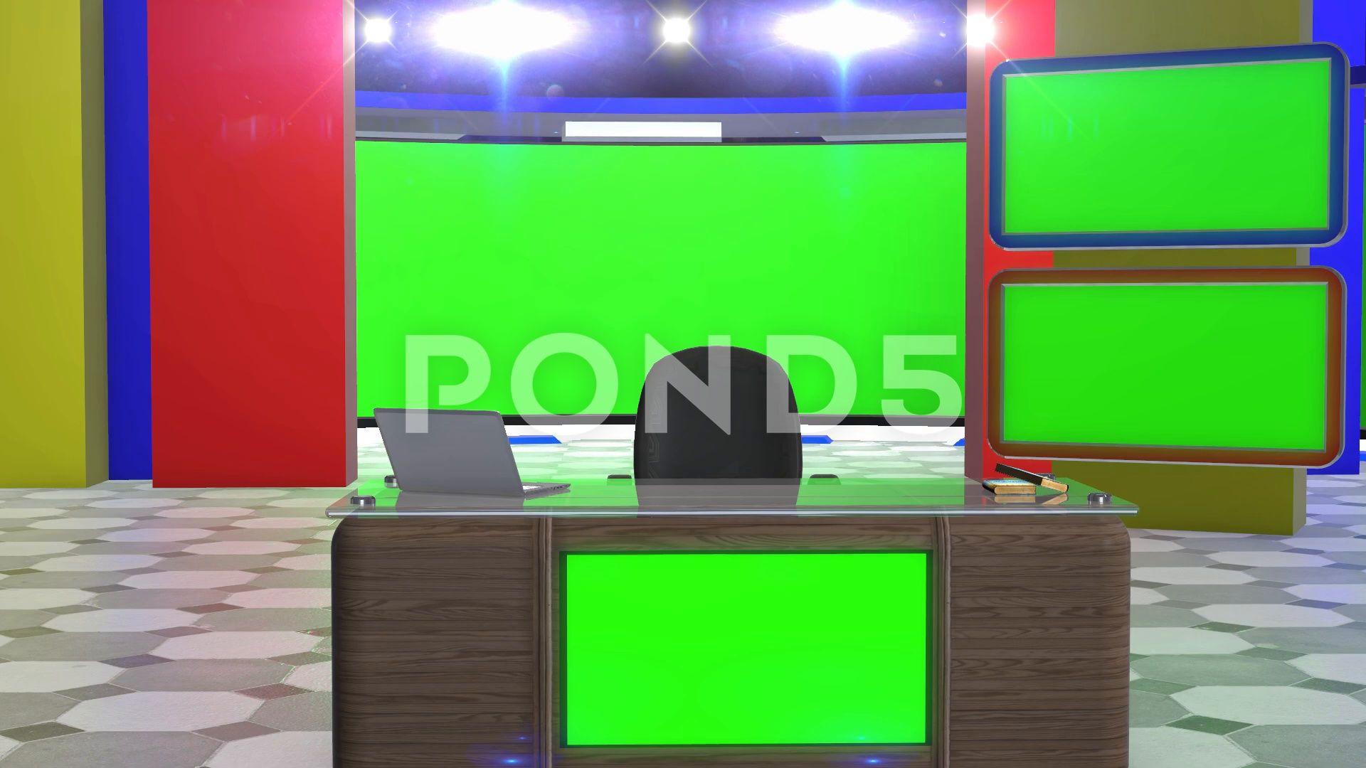 3d Virtual Studio Set Green Screen Background Stock Footage Ad