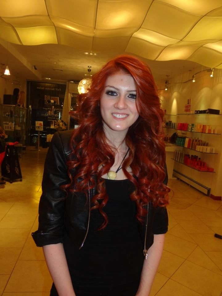 dip dyed copper brown hair extensions