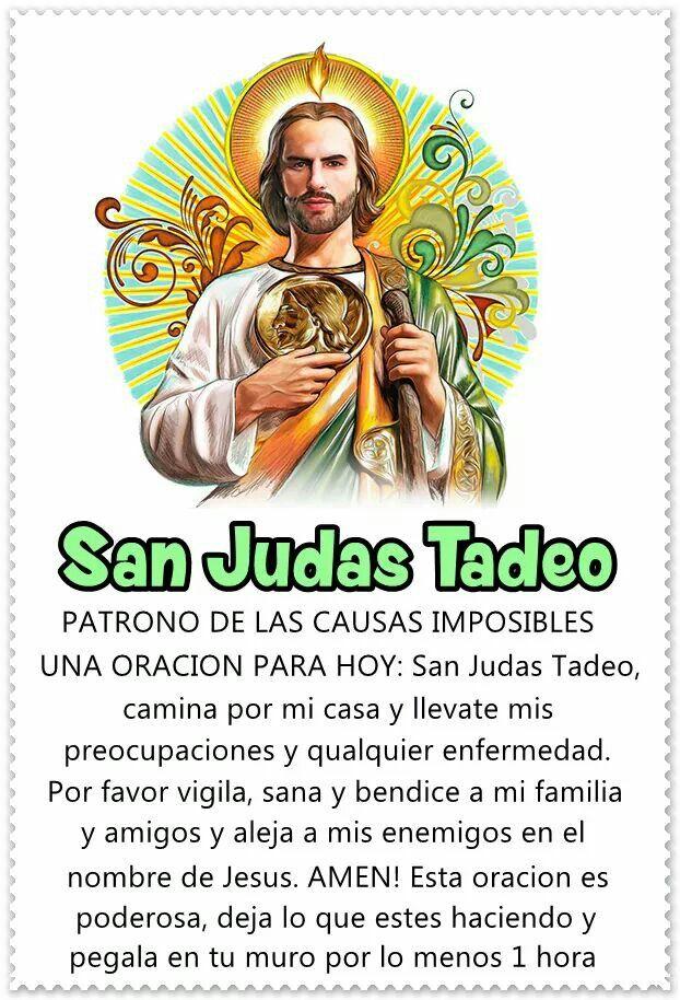 San Judas Tadeo Oraciones Catolicas Milagrosas Oraciones Religiosas Oraciones Catolicas