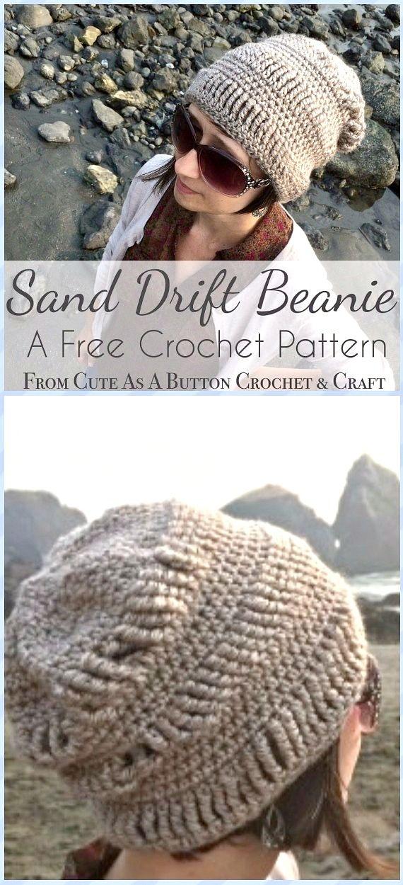 DIY Crochet Beanie Hat Free Patterns Baby Hat Winter Hat | Gorros y ...