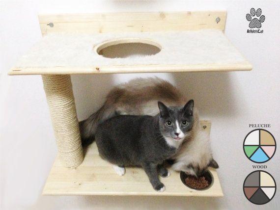Gatti Mobili ~ Ess eat scratch and sleep struttura per gatti con ciotole