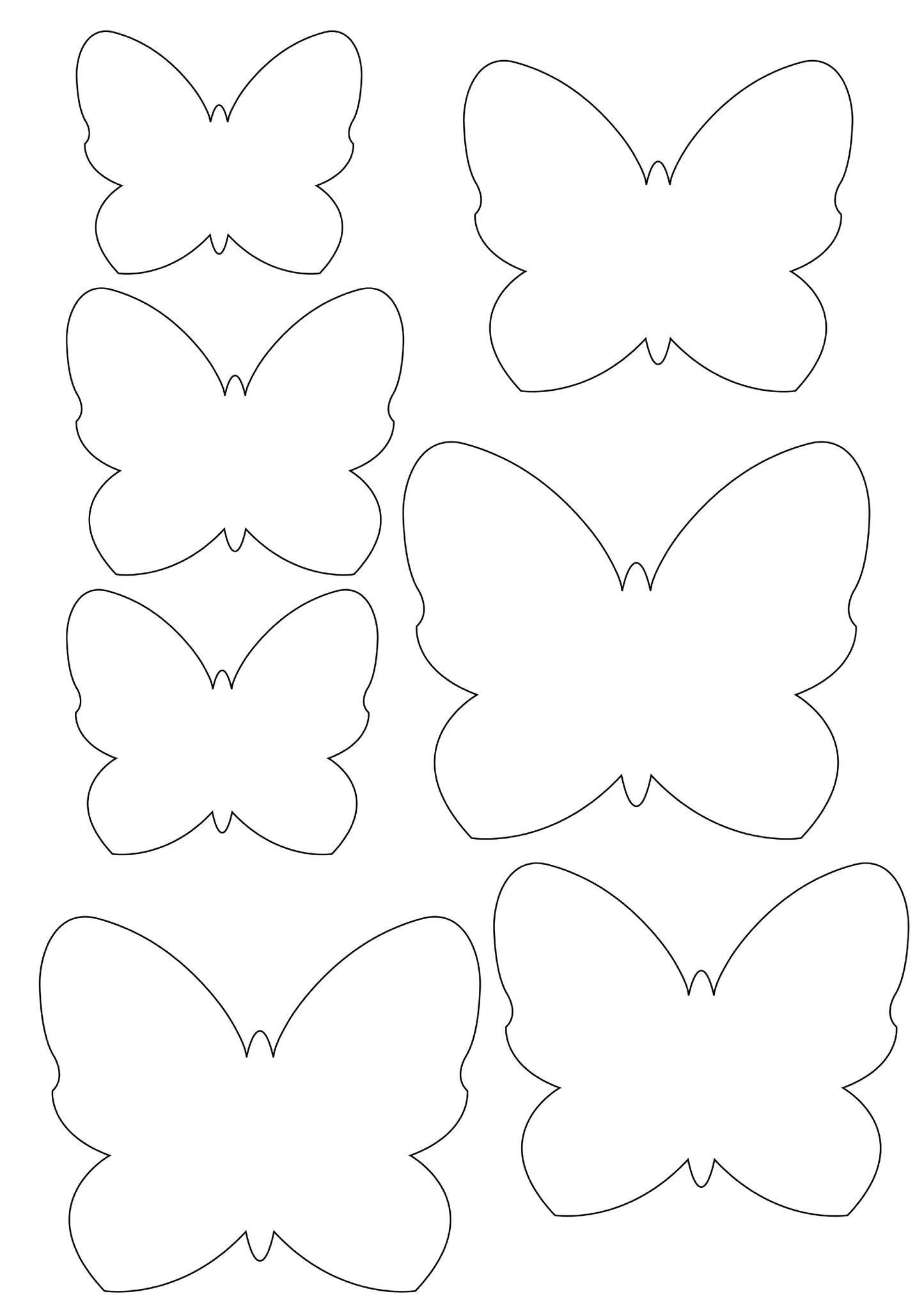 gabarit … | Modèle de papillon | Pinterest | Molde, Mariposas y ...