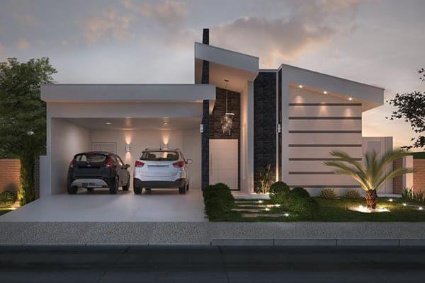 Casa planta baja con espacio gourmet exteriores de casa for Casas planta baja bonitas