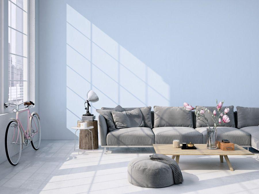 Quellblau Minimalistische Wohnzimmer Schöner Wohnen