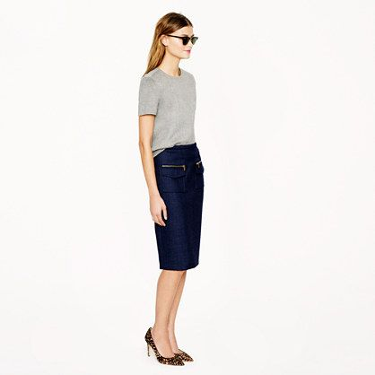 must have! jcrew patch-pocket pencil skirt