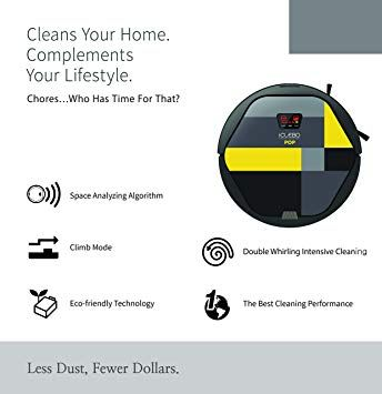 amazon com: iclebo pop smart vacuum cleaner & floor mopping robot: home &  kitchen