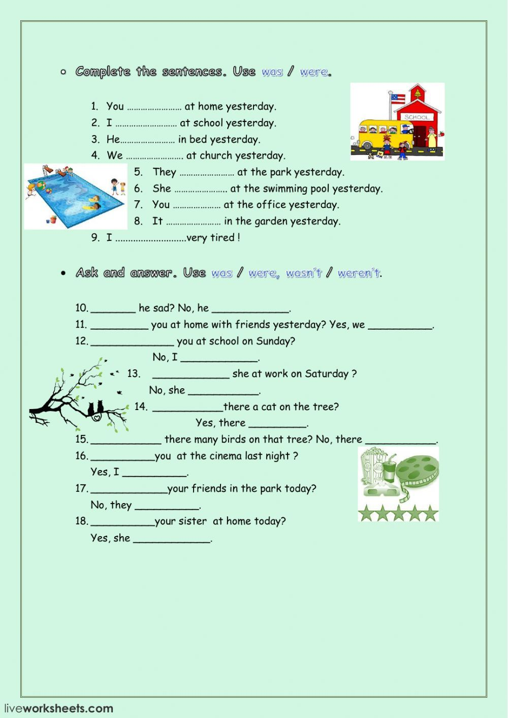 Verb To Be Interactive And Downloadable Worksheet You Can Do The Exercises Online Or Do Learning English For Kids English As A Second Language Time Worksheets
