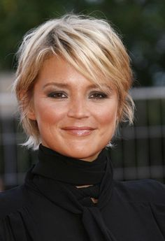 Virginie efira cheveux courts Cheveux courts, Coiffures
