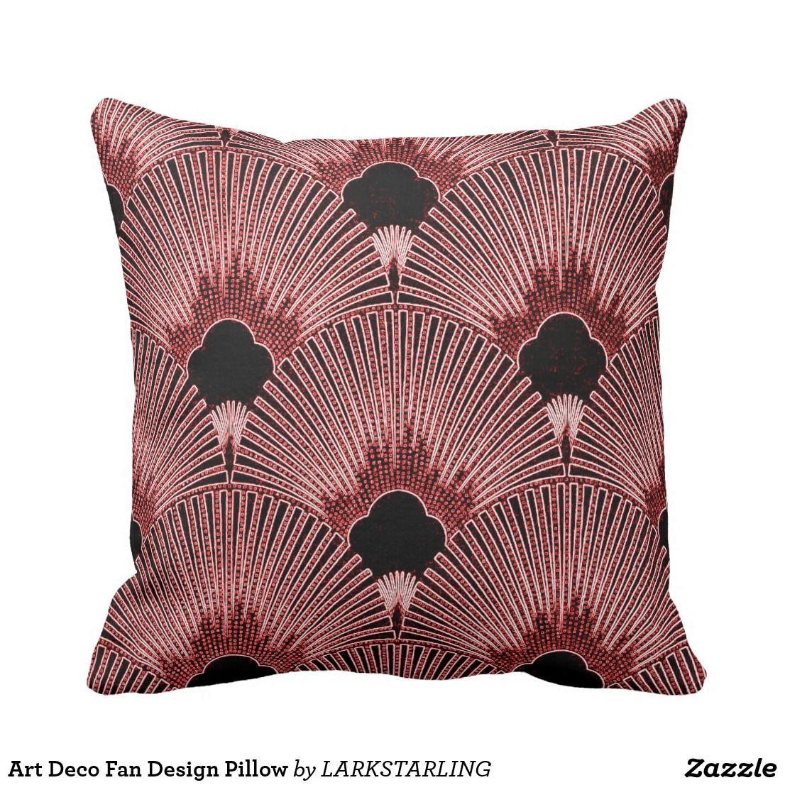 Art deco fan design pillow decor pillows pinterest pillows