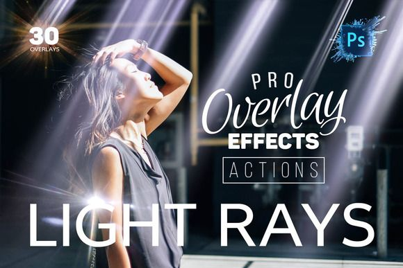 Light Rays Photoshop Actions By Creative Stuff On Creative Market