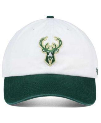 new arrivals 4e549 5f78d  47 Brand Milwaukee Bucks 2-Tone Clean Up Cap - White Adjustable.