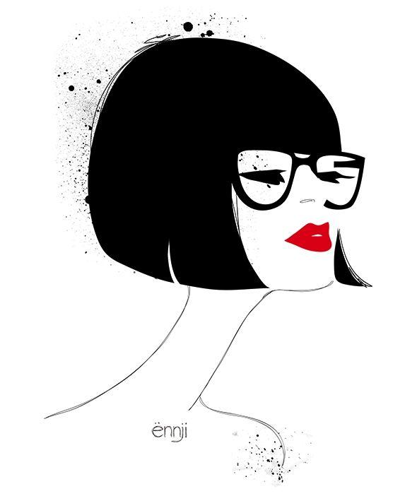 illustrations-mode-ennji-dessin-silhouette-feminines-rouge-noir-09 ... 4a22c0d674bd