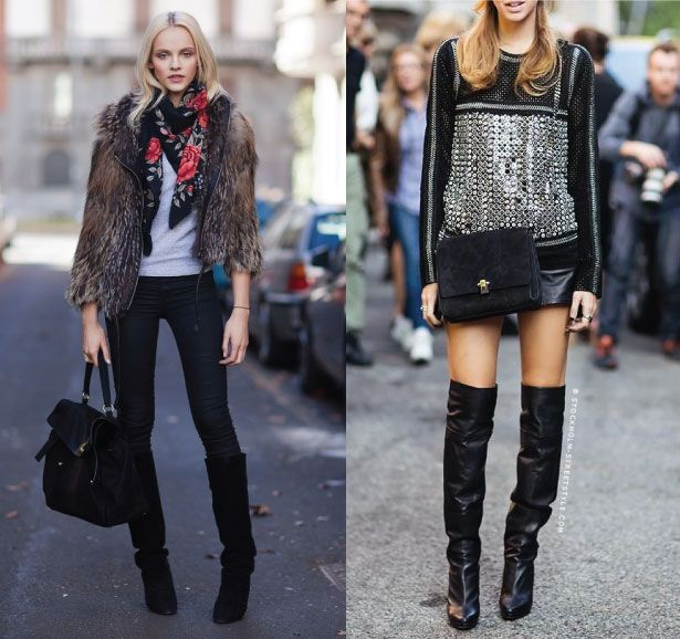 Get Inspired By European Styling Tips.  On the left, model Ginta Lapina on Stockholm Streetstyle. On the right, Italian blogger, Chiara Ferragni of The Blonde Salad at fashion week.