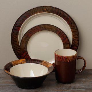 Tabletop Gallery \'Kenya\' 16-piece Dinnerware Set by Tabletops ...