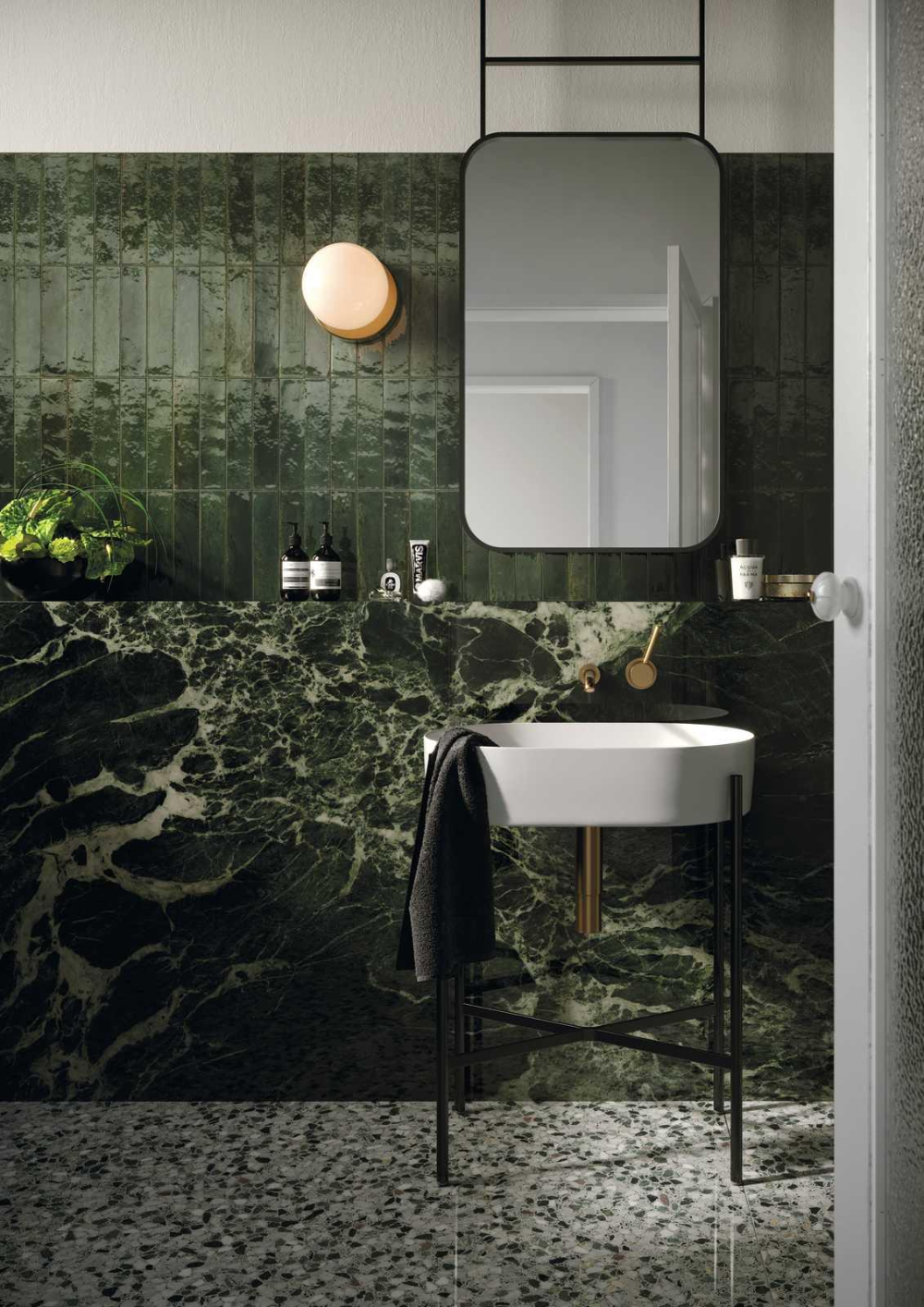 Lume Green Lux Melbourne S Leading Suppliers Of Tile Stone Cerdomus Tiles In 2020 Bathroom Interior Design Green Bathroom Modern Bathroom Decor
