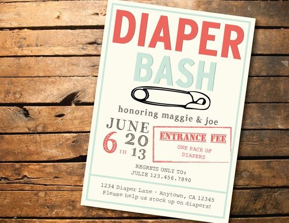 Printable Baby Shower Diaper Bash Invitation by SONNYAndCo on Etsy ...