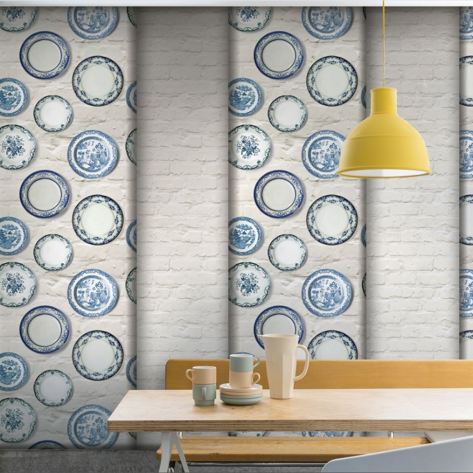 Create a vintage country feel with this blue plate background. Relax ...