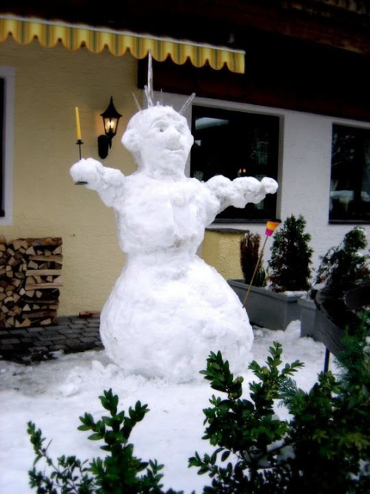 Söll, Austria. Scary snowman (Photo: My own)