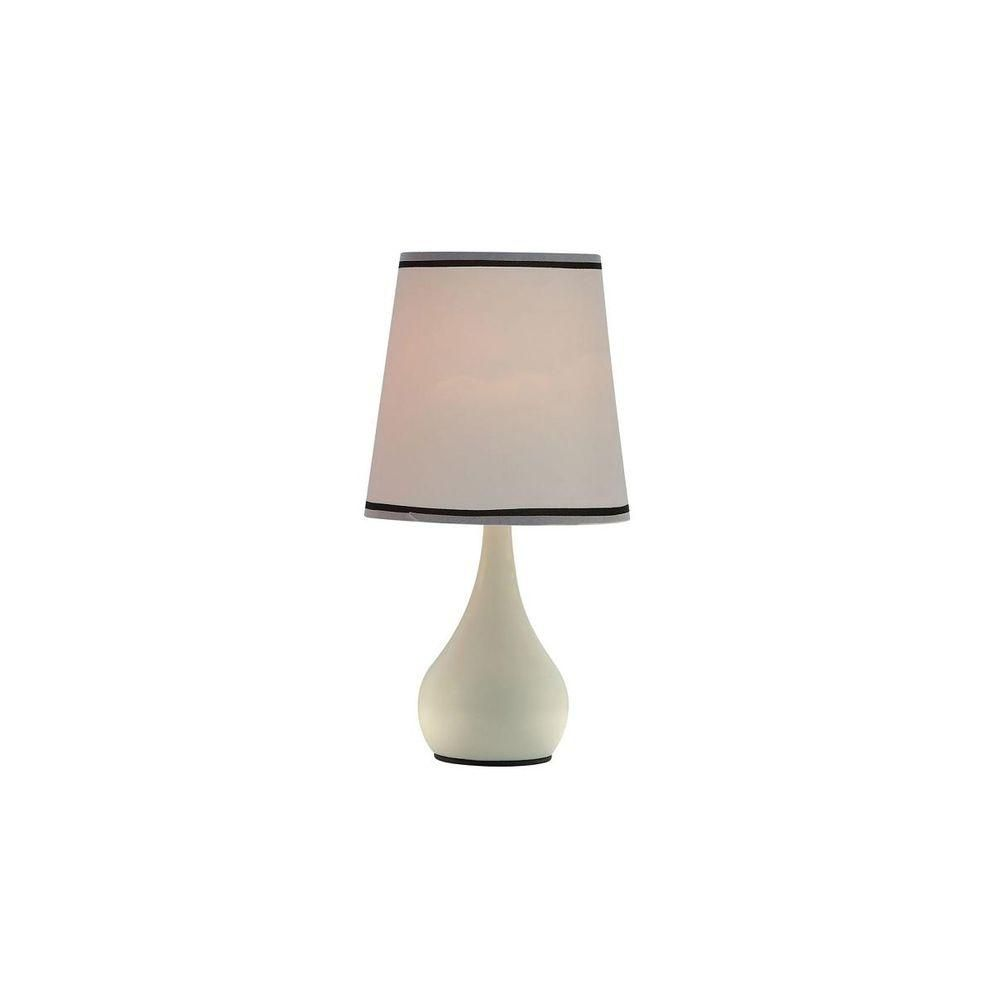 Ore International 15 In Ivory White High Modern Touch Lamp K 816pl The Home Depot Stylish Table Lamps Touch Lamp Lamp