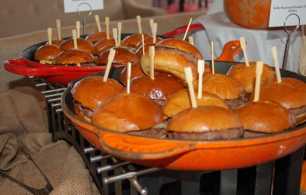 Mini cheeseburger slider station charles view ballroom