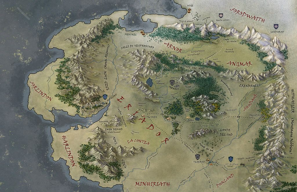 Middle Earth Map by Ladyoftheflower.deviantart.on @DeviantArt