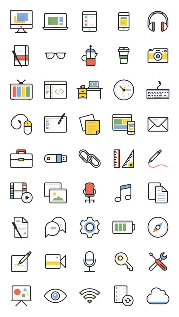 Free Download Dashel Icon Set 45 Icons Svg Psd Png ไอคอน