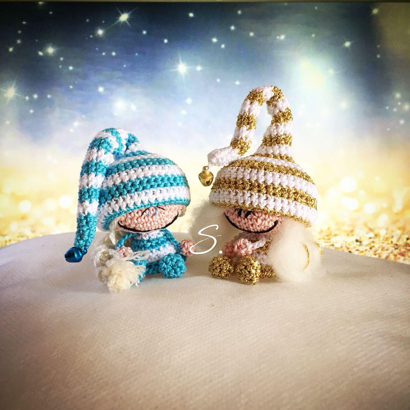 Free pattern Amigurumi elves and fairies crochet dolls. Folletti e ...