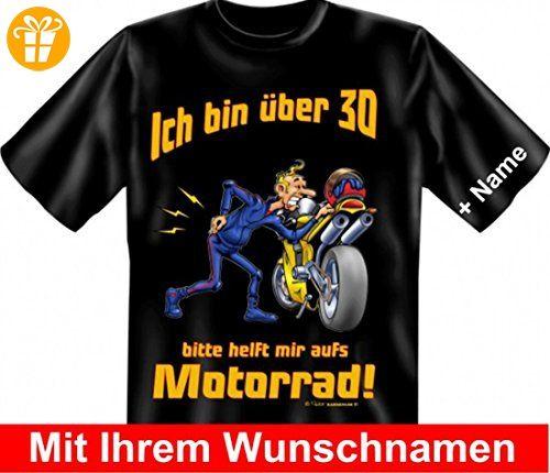 T Shirt Mit Namen   Bin über 30   Bitte Helfen Sie Mir Aufs Motorrad
