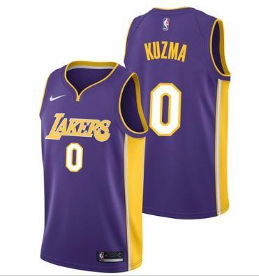 Men 0 Kyle Kuzma Jersey Purple Los Angeles Lakers Swingman Fanatics ... 405da8dd4