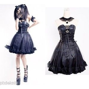 Black Princess Dress Large Punk Rave Gothic Lolita Prom Dress .  sc 1 st  Pinterest & Black Princess Dress Large Punk Rave Gothic Lolita Prom Dress ...