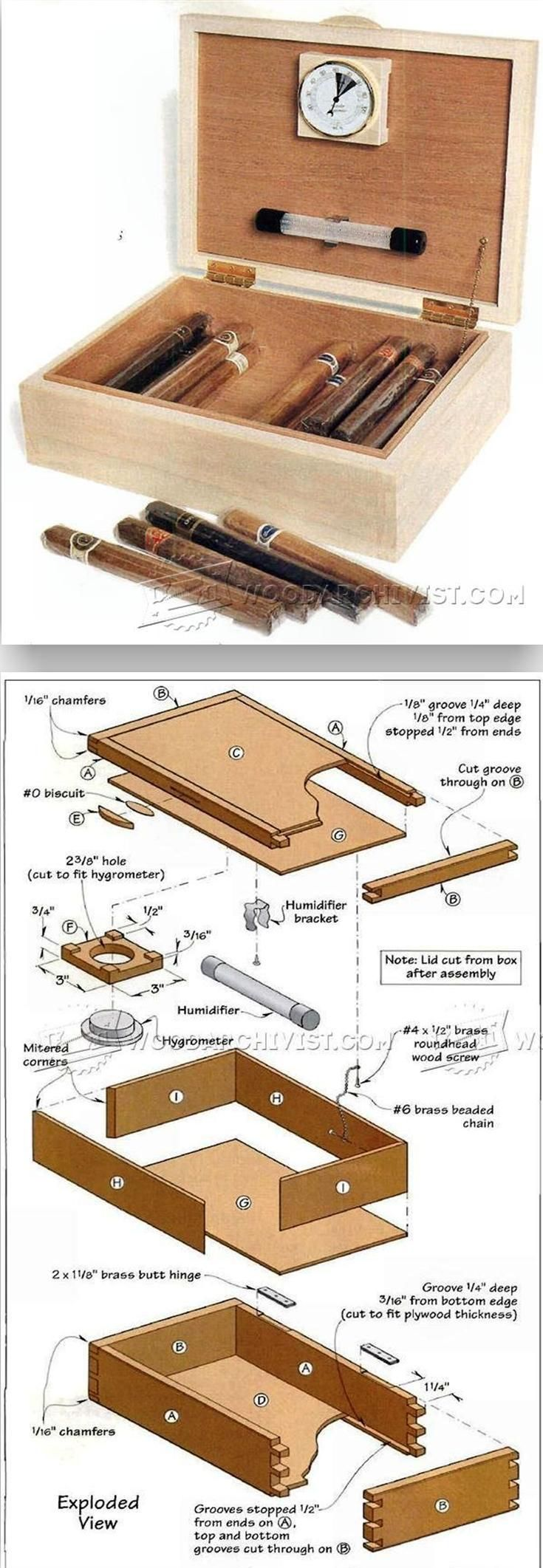 Cigar Humidor Plans Woodworking Plans And Projects  # Muebles Humidores Para Puros
