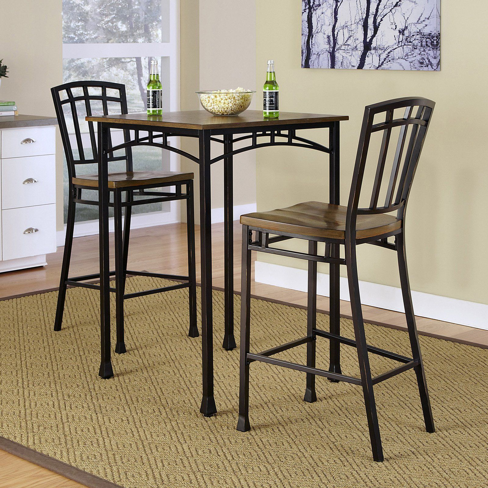 Home Styles Modern Craftsman 3 Piece Pub Set Elevate The Look Of Your Bar