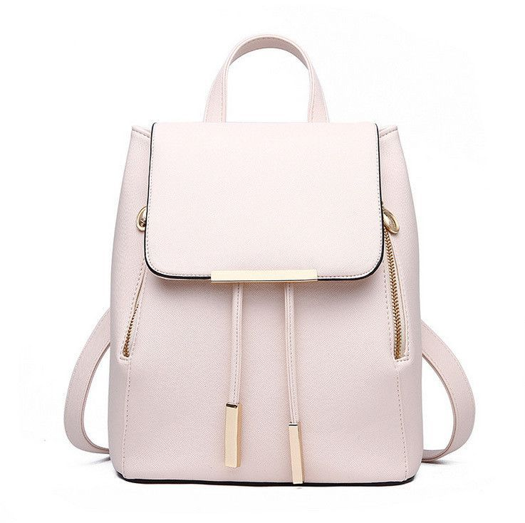 Women Daily Backpacks Daypack Girl School Bag PU Leather Bags Candy Color Travel  bag f23ba2c3d2b14