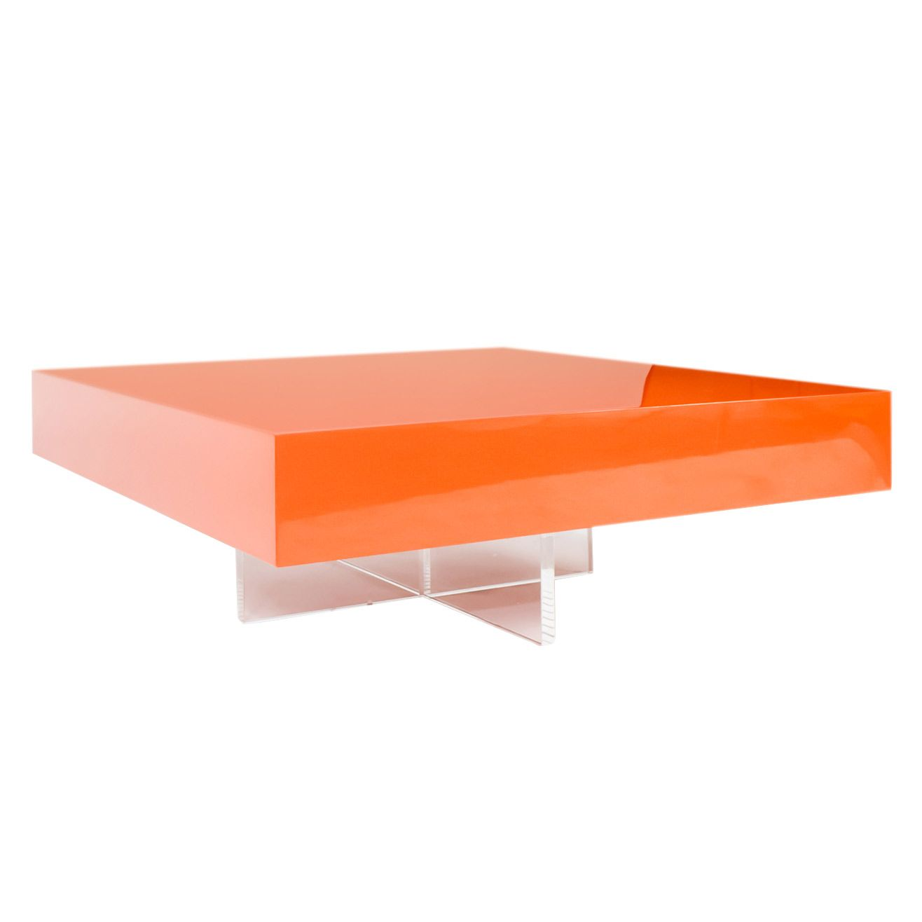 jonathan adler lacquer block orange cocktail table @zinc_door