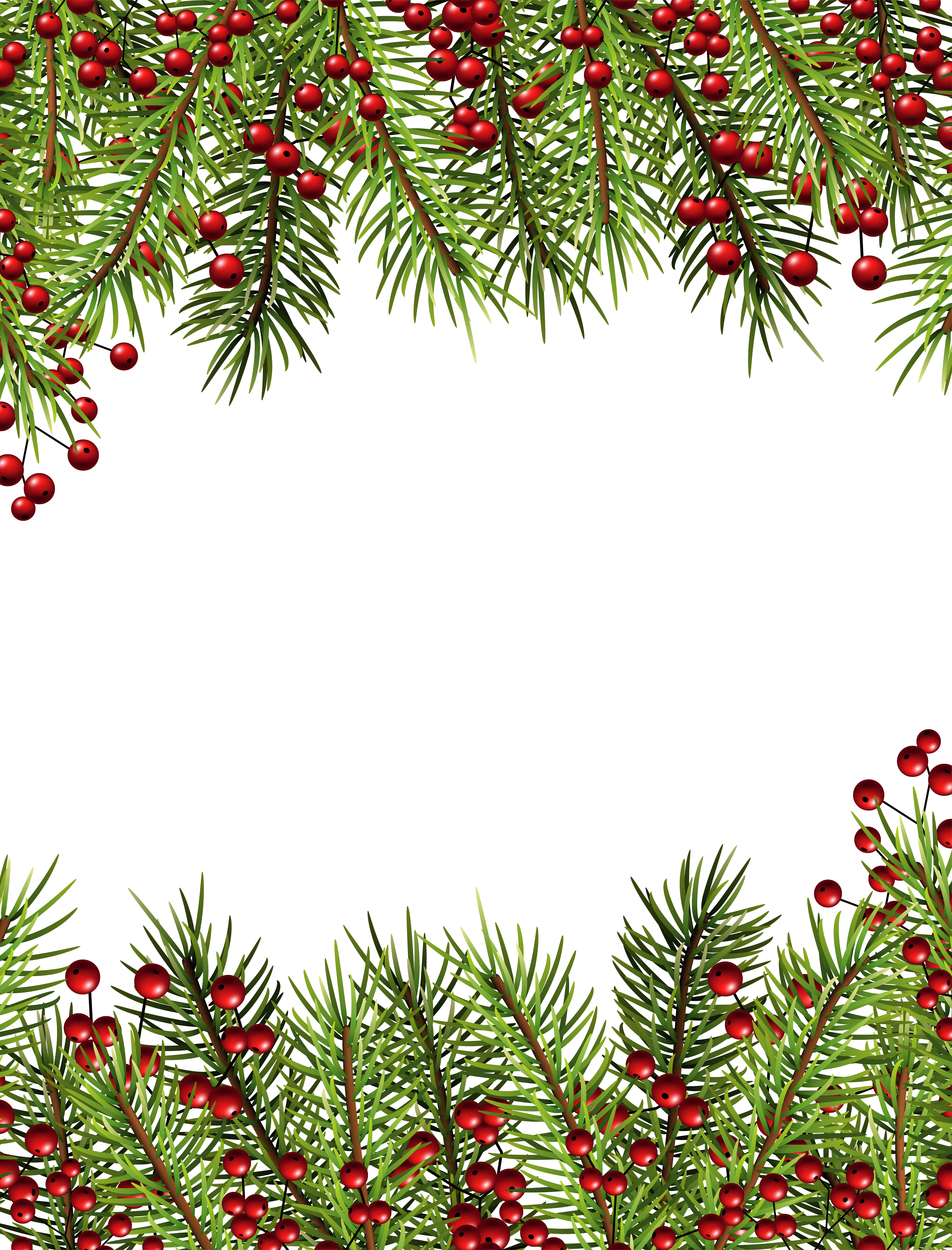 Christmas Holly Transparent Border PNG Frame Gallery