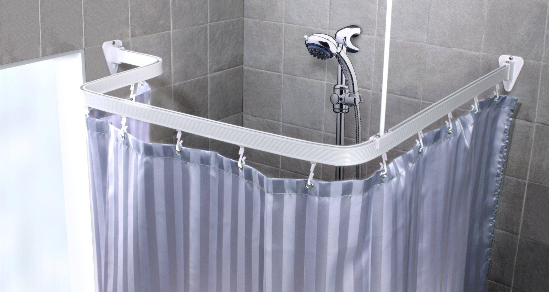 Chrome Bendi Track Hand Bendable Shower Curtain Rail Full Kit With Ings Co Uk Kitchen Home