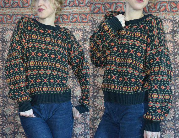 80s Avant Garde Tribal Garage Rock Sweater