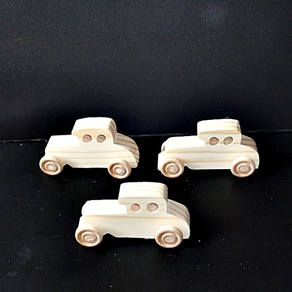 Pkg Of 3 Handcrafted Wood Toy Cars 276AAH-U-3 Unfinished